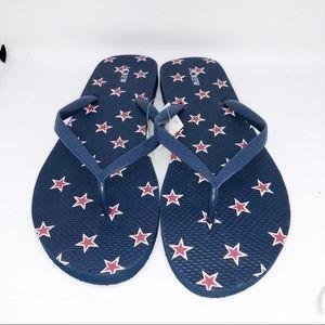 J. Crew Star Print Americana Flip Flops